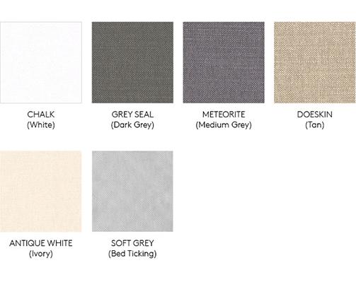 fabric colors baseboard and headboard